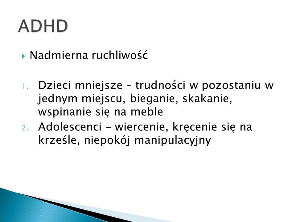 ADHD Nadmierna ruchliwość