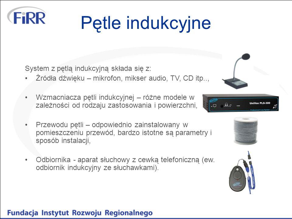 Pętle indukcyjne System z pętlą indukcyjną składa się z: