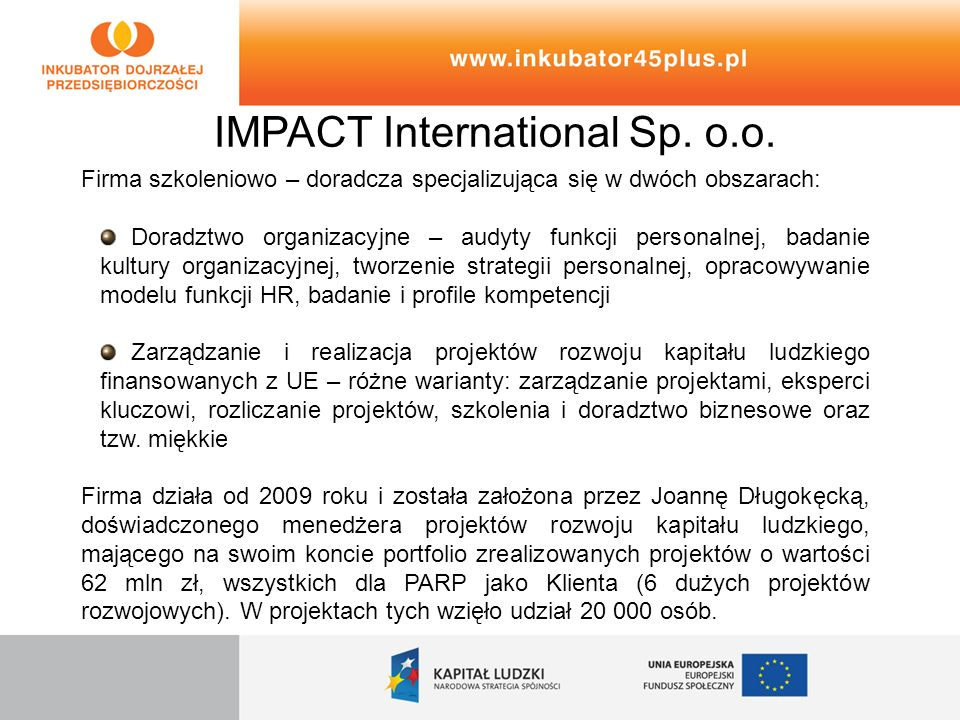 IMPACT International Sp. o.o.