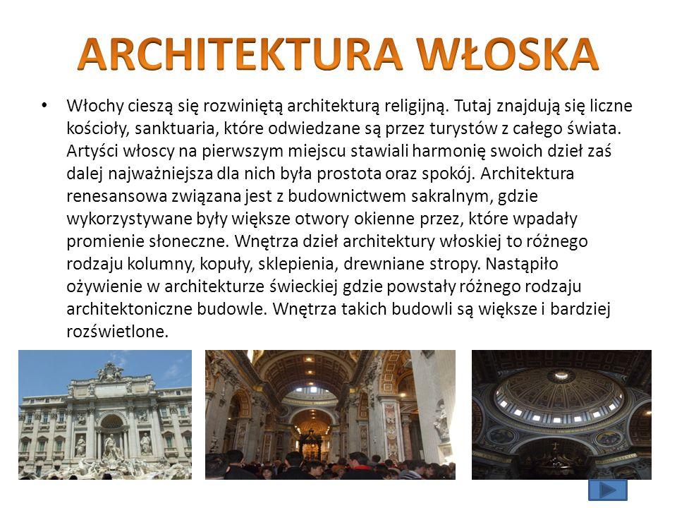 ARCHITEKTURA WŁOSKA
