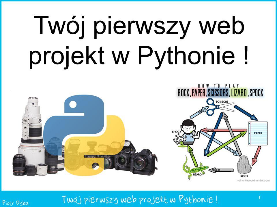 Twój pierwszy web projekt w Pythonie !