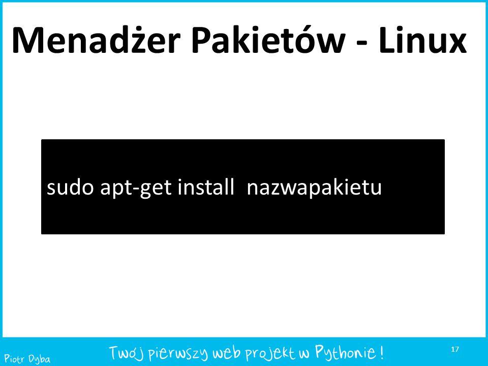 Menadżer Pakietów - Linux