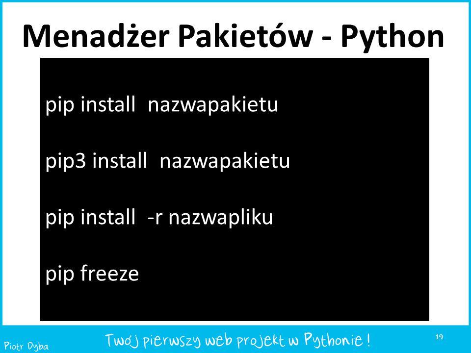 Menadżer Pakietów - Python
