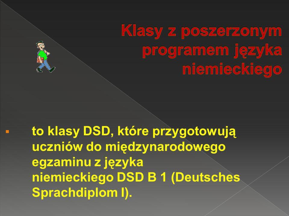 Klasy z poszerzonym programem języka niemieckiego