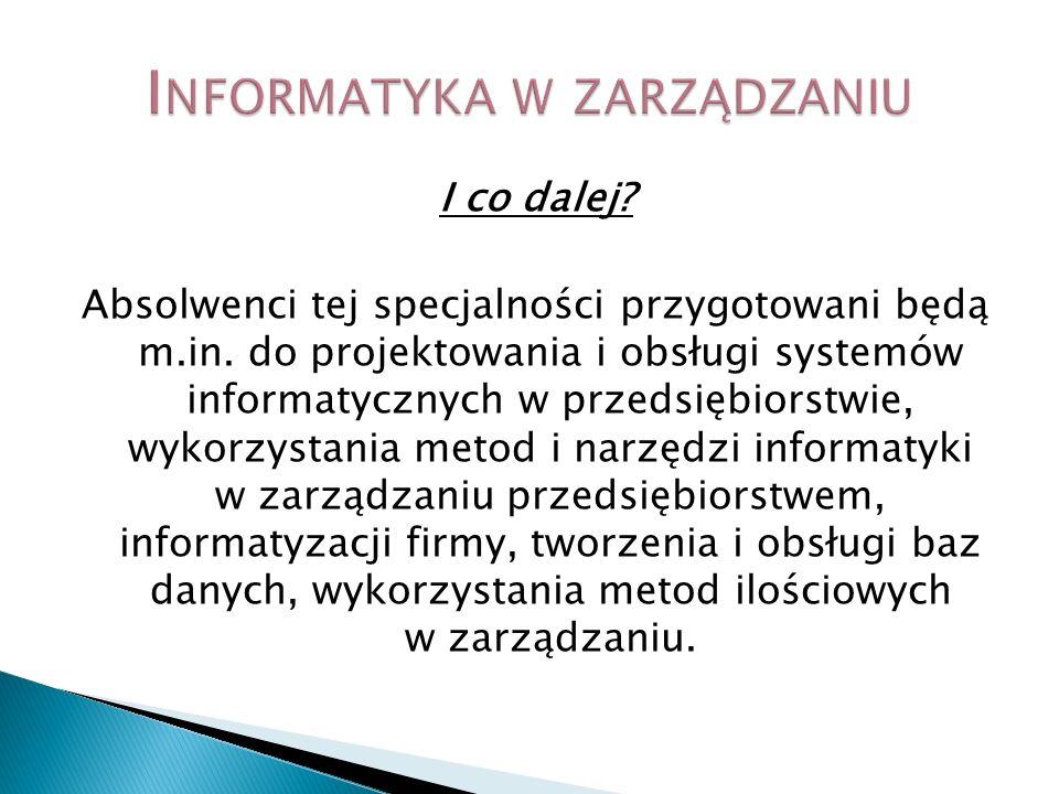 Informatyka w zarządzaniu