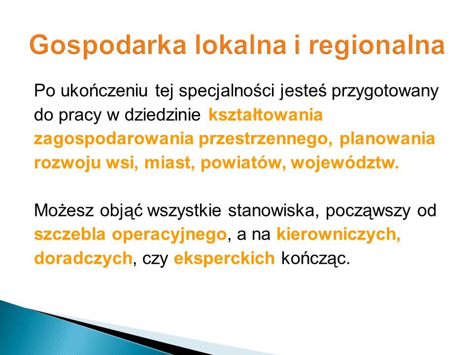 Gospodarka lokalna i regionalna