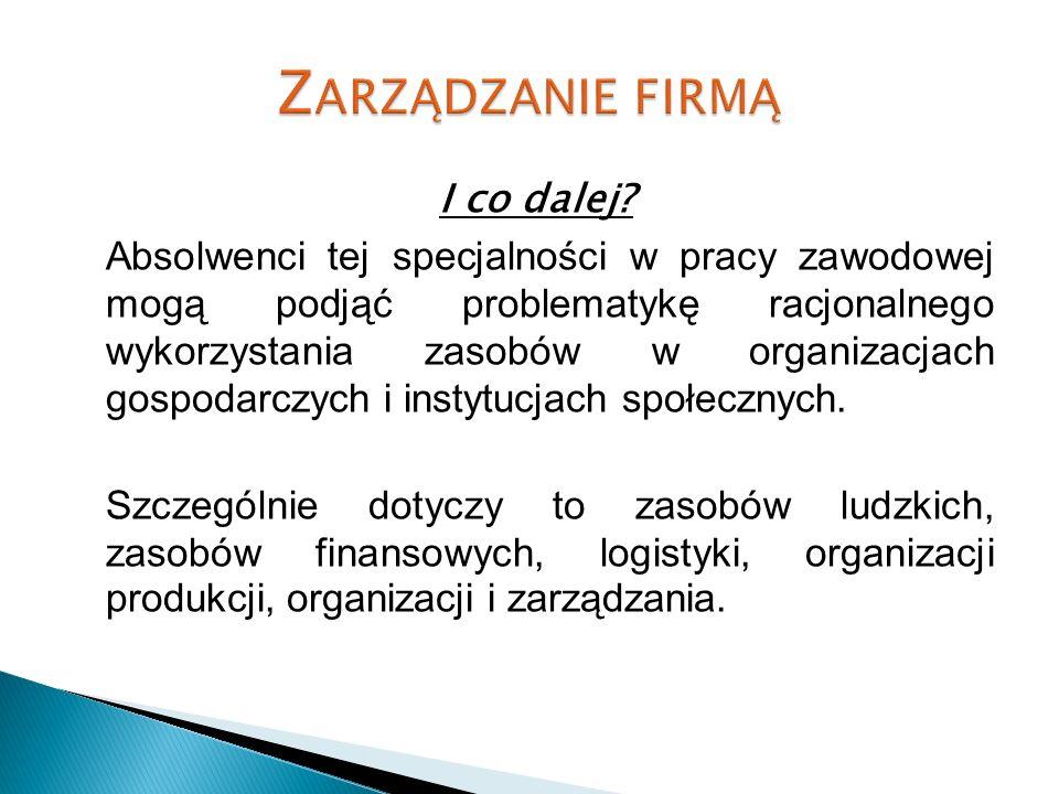 Zarządzanie firmą