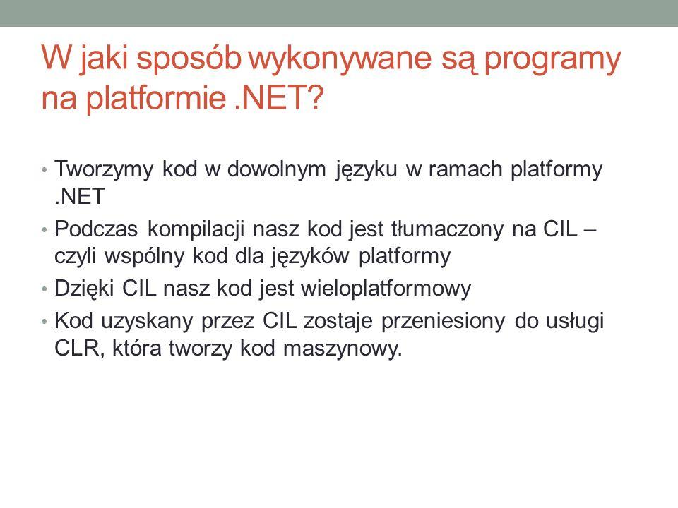 W jaki sposób wykonywane są programy na platformie .NET
