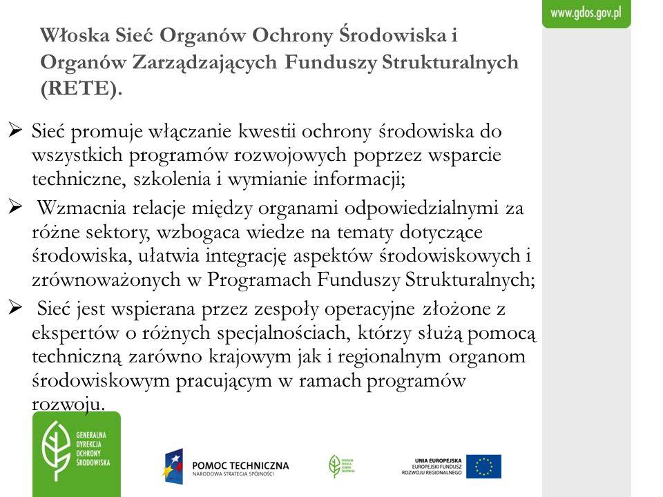 Włoska Sieć Organów Ochrony Środowiska i Organów Zarządzających Funduszy Strukturalnych (RETE).