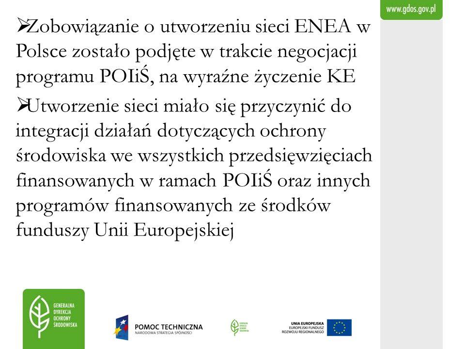 Zobowiązanie o utworzeniu sieci ENEA w Polsce zostało podjęte w trakcie negocjacji programu POIiŚ, na wyraźne życzenie KE