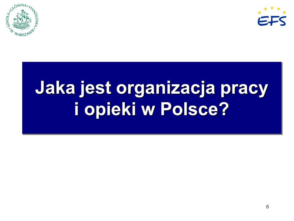 Jaka jest organizacja pracy i opieki w Polsce