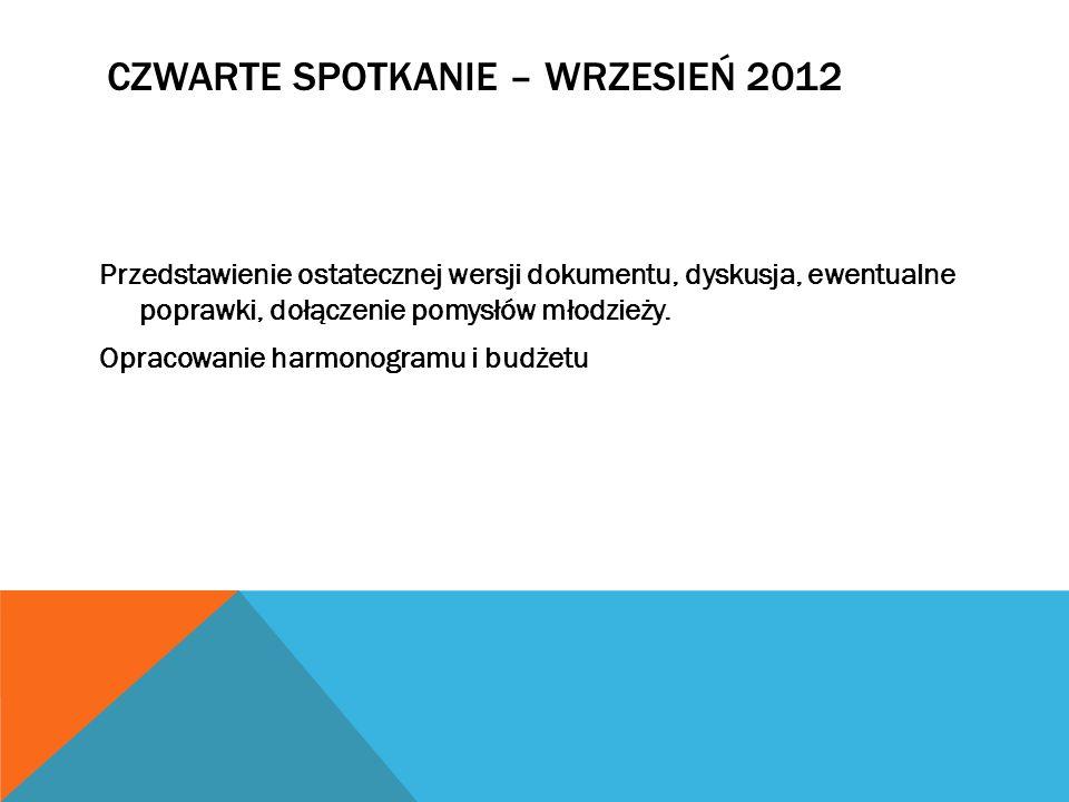 Czwarte spotkanie – wrzesień 2012