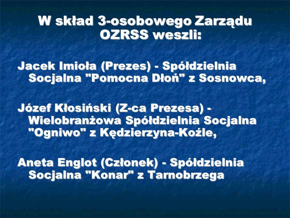 W skład 3-osobowego Zarządu OZRSS weszli: