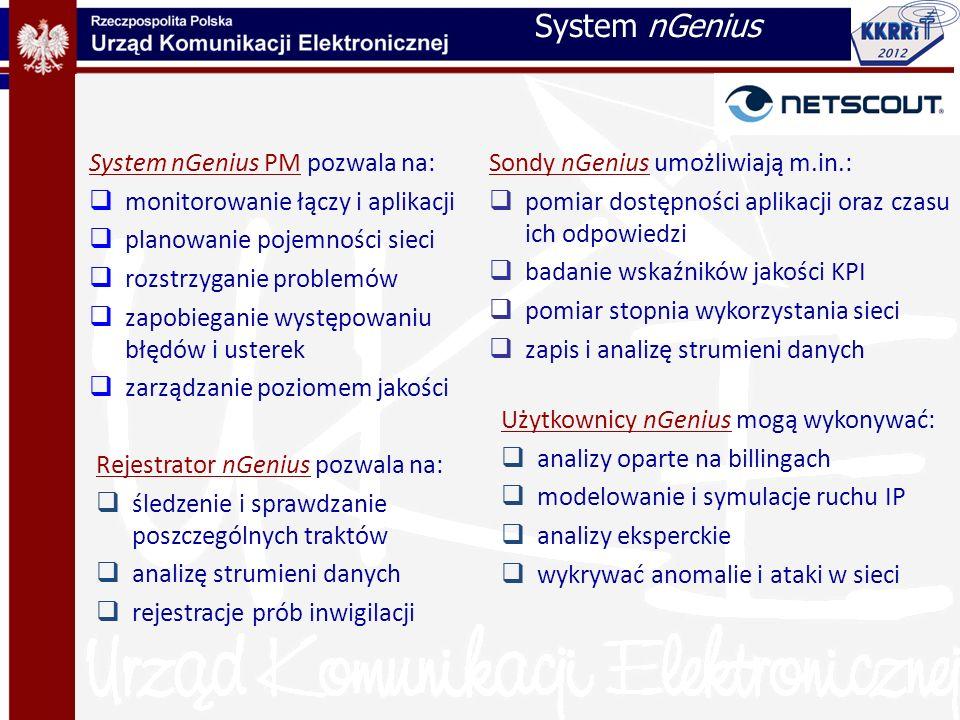 System nGenius System nGenius PM pozwala na: