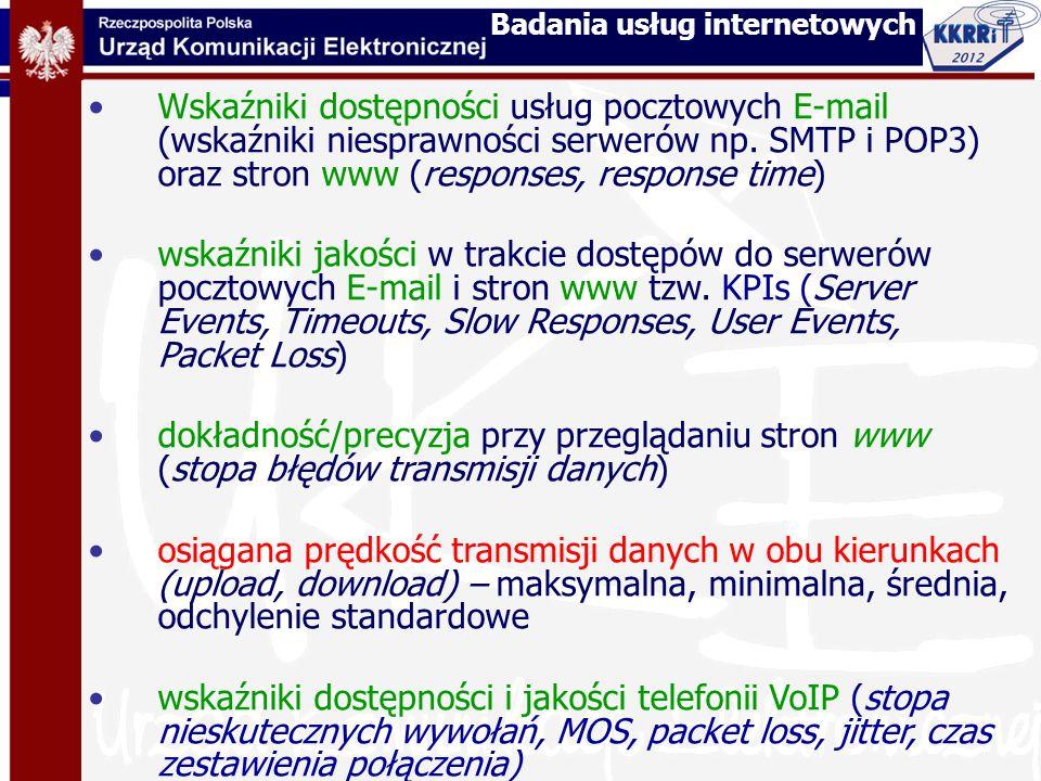 Badania usług internetowych