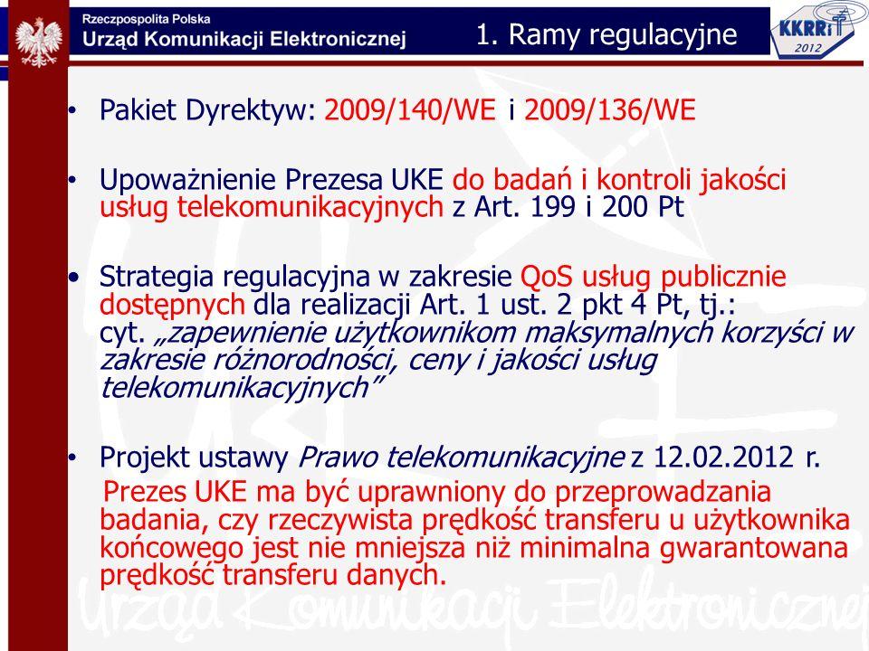 1. Ramy regulacyjne Pakiet Dyrektyw: 2009/140/WE i 2009/136/WE