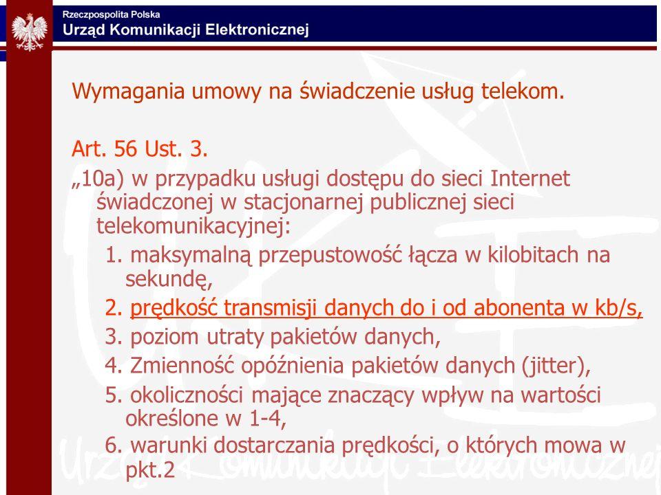Wymagania umowy na świadczenie usług telekom.