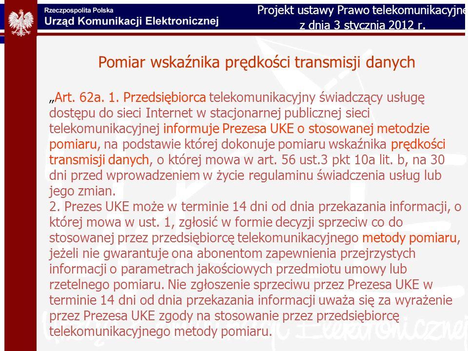 Pomiar wskaźnika prędkości transmisji danych