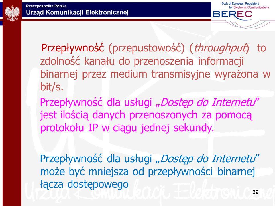 Przepływność (przepustowość) (throughput) to zdolność kanału do przenoszenia informacji binarnej przez medium transmisyjne wyrażona w bit/s.