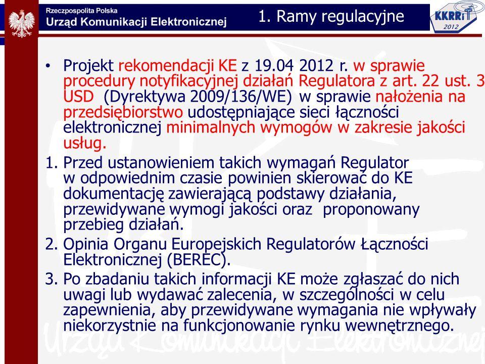 1. Ramy regulacyjne