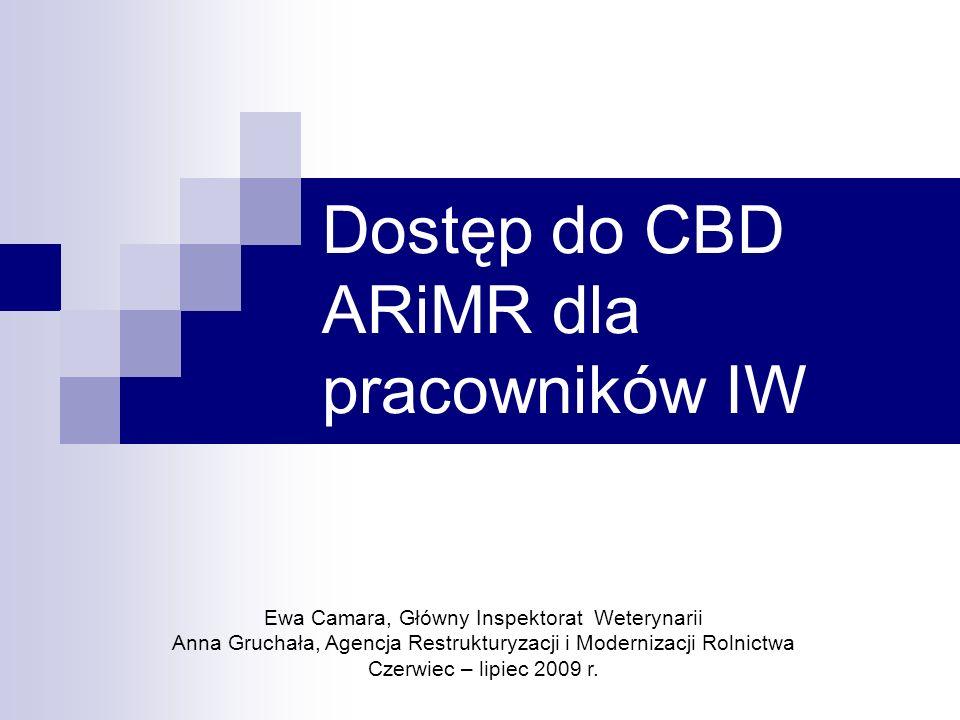 Dostęp do CBD ARiMR dla pracowników IW