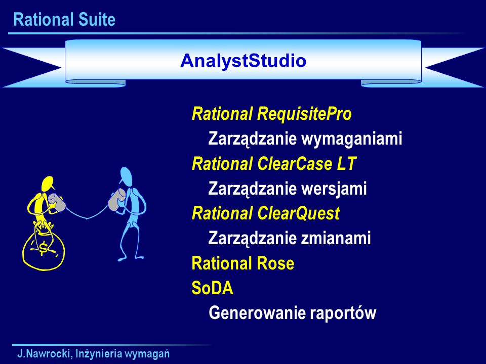 Rational RequisitePro Zarządzanie wymaganiami Rational ClearCase LT