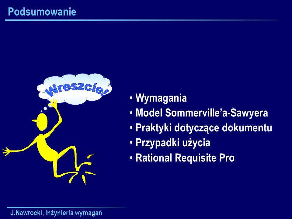 Wreszcie! Podsumowanie Wymagania Model Sommerville'a-Sawyera