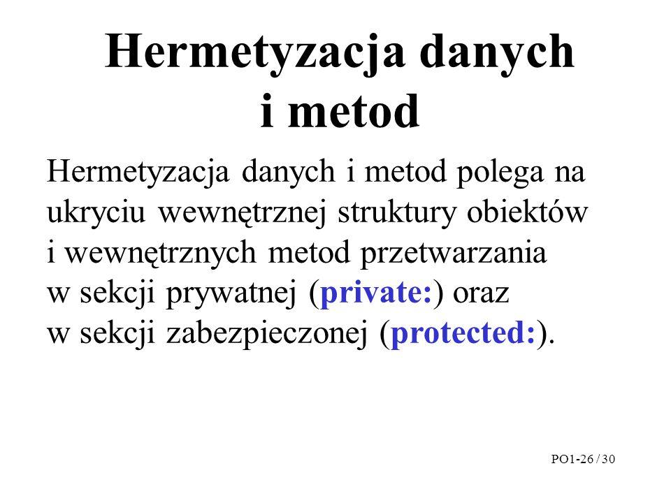Hermetyzacja danych i metod