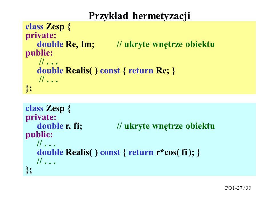 Przykład hermetyzacji