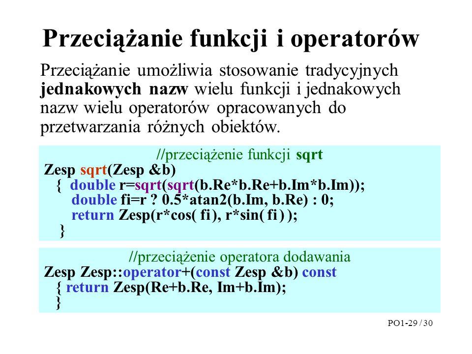 Przeciążanie funkcji i operatorów