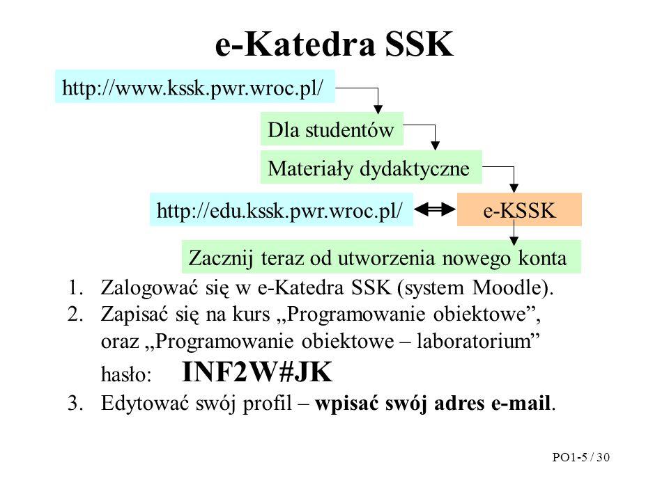 e-Katedra SSK http://www.kssk.pwr.wroc.pl/ Dla studentów