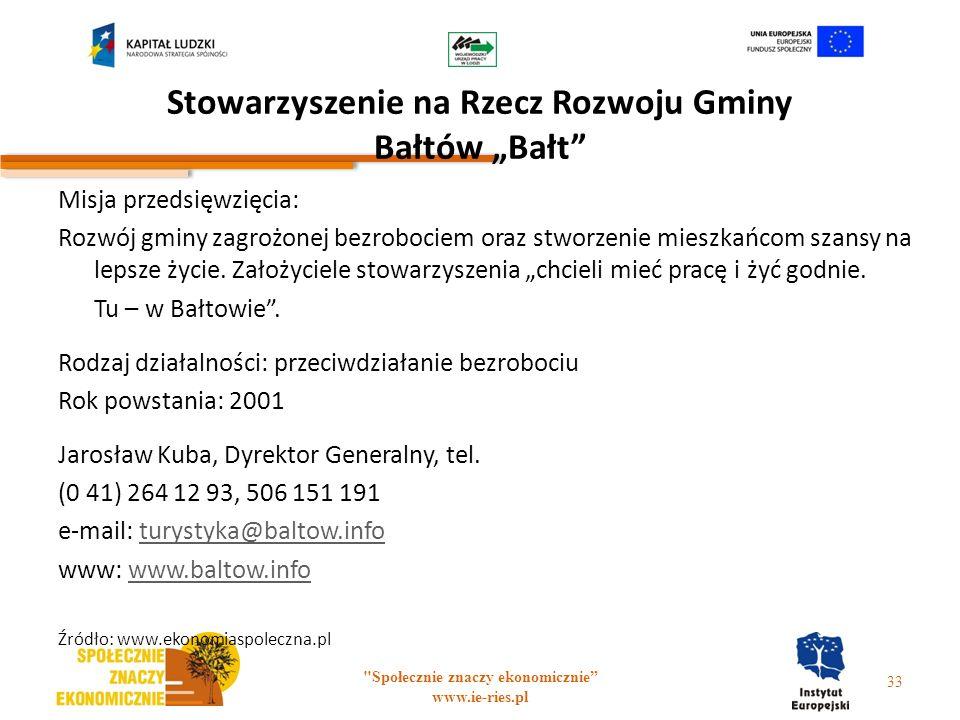 """Stowarzyszenie na Rzecz Rozwoju Gminy Bałtów """"Bałt"""