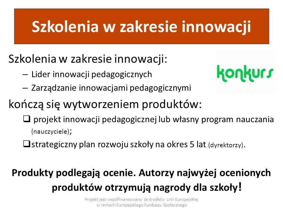 Szkolenia w zakresie innowacji