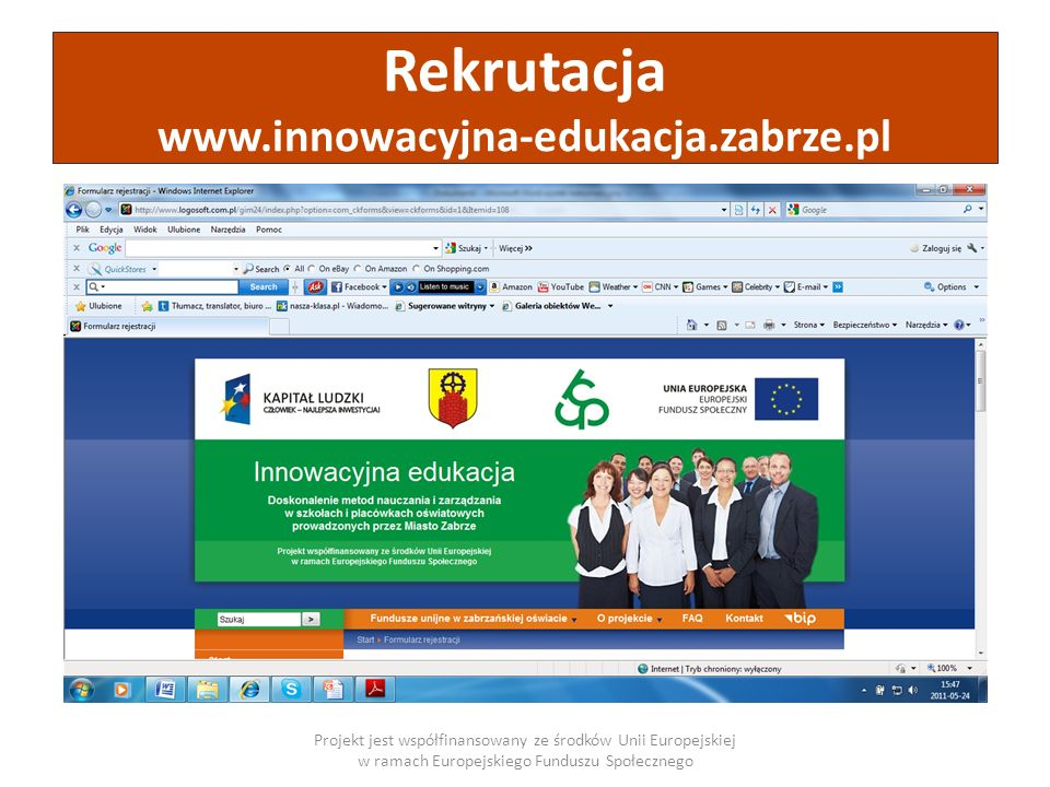 Rekrutacja www.innowacyjna-edukacja.zabrze.pl