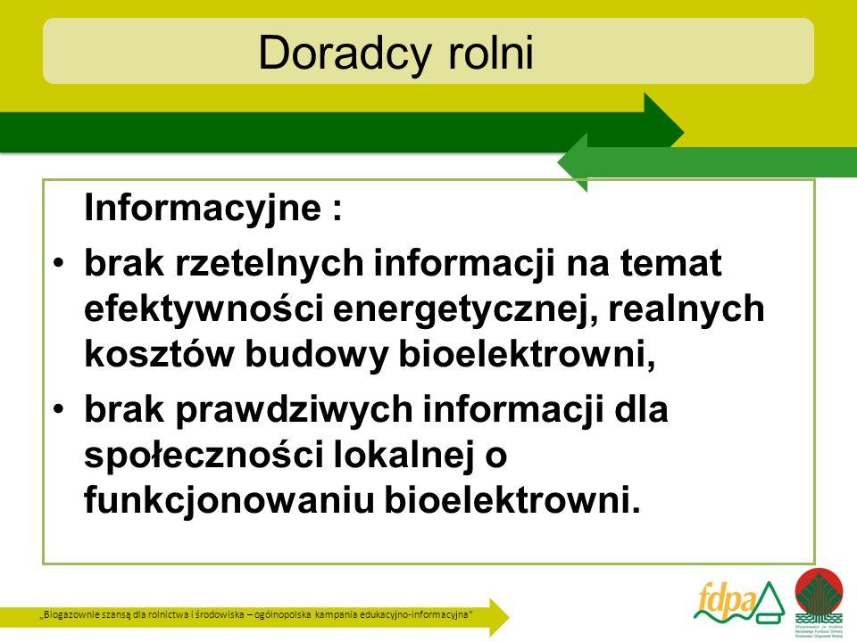 Doradcy rolni Informacyjne :