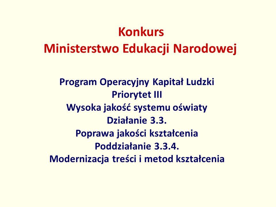 Konkurs Ministerstwo Edukacji Narodowej