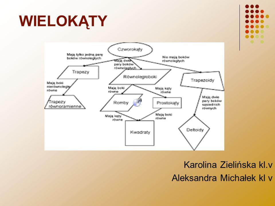 WIELOKĄTY Karolina Zielińska kl.v Aleksandra Michałek kl v