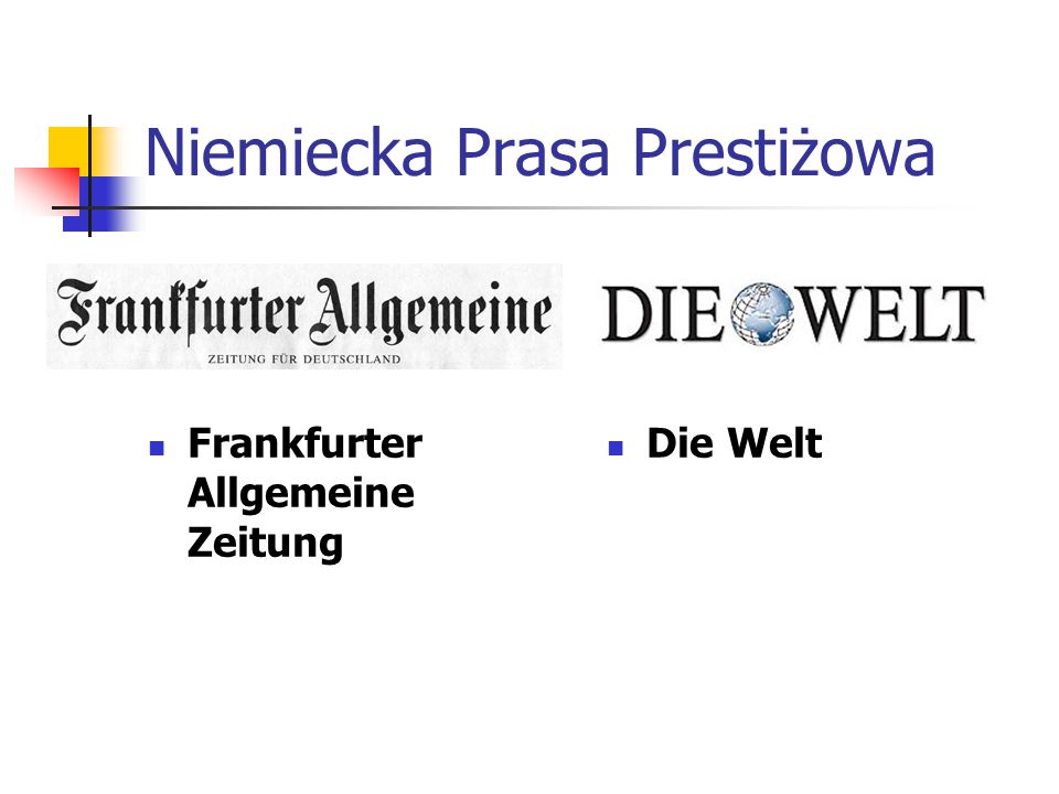 Niemiecka Prasa Prestiżowa