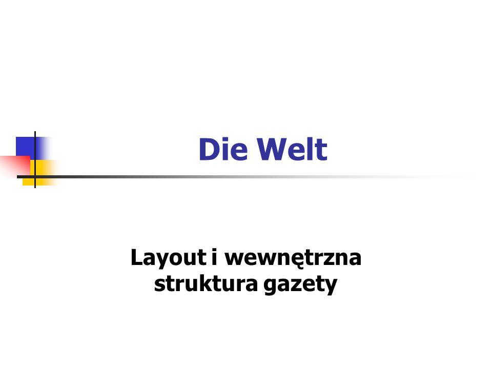 Layout i wewnętrzna struktura gazety