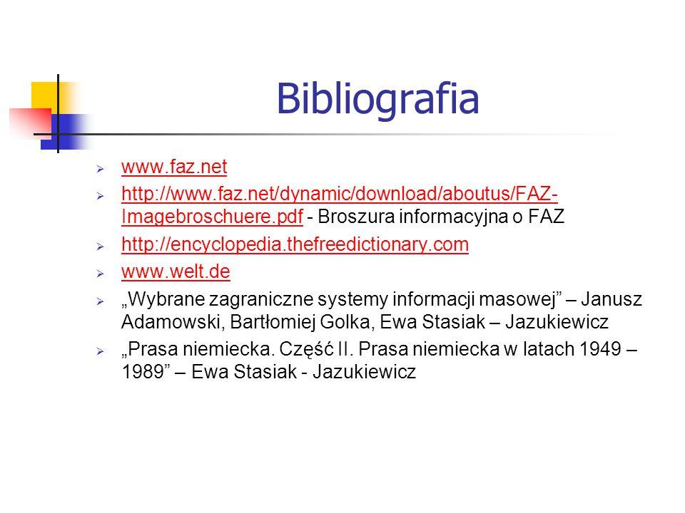 Bibliografia www.faz.net