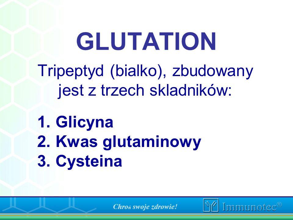 Tripeptyd (bialko), zbudowany jest z trzech skladników: