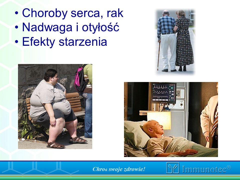 Choroby serca, rak Nadwaga i otyłość Efekty starzenia