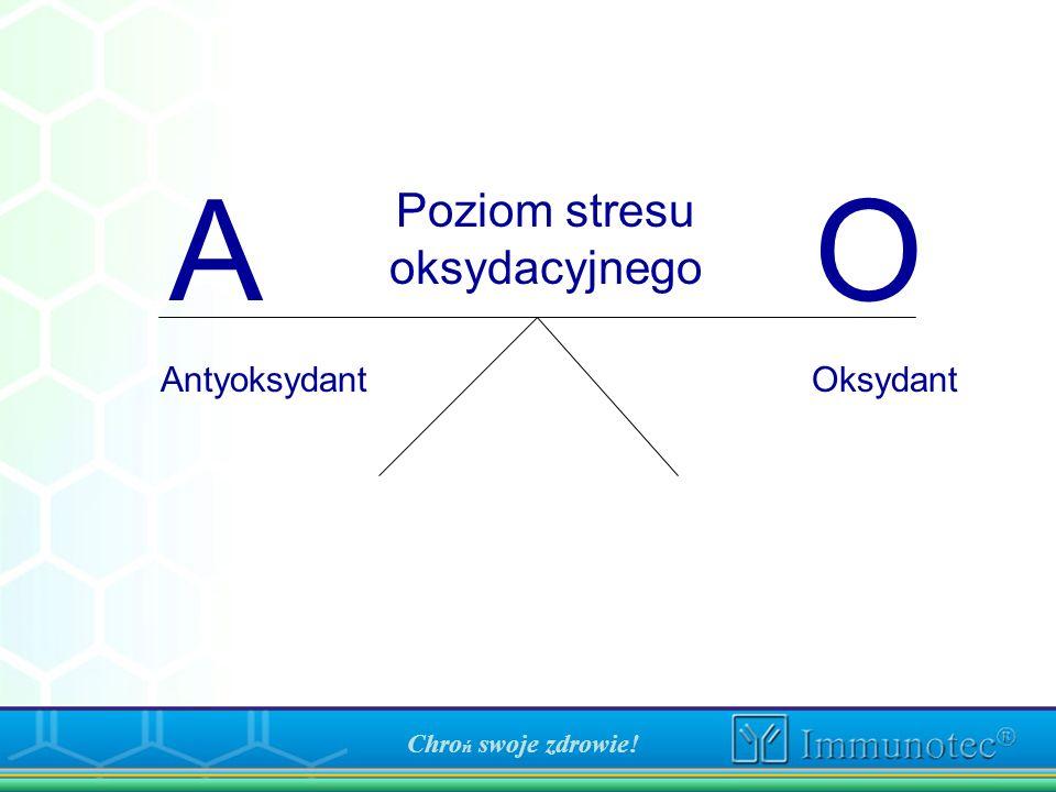 A O Poziom stresu oksydacyjnego Antyoksydant Oksydant