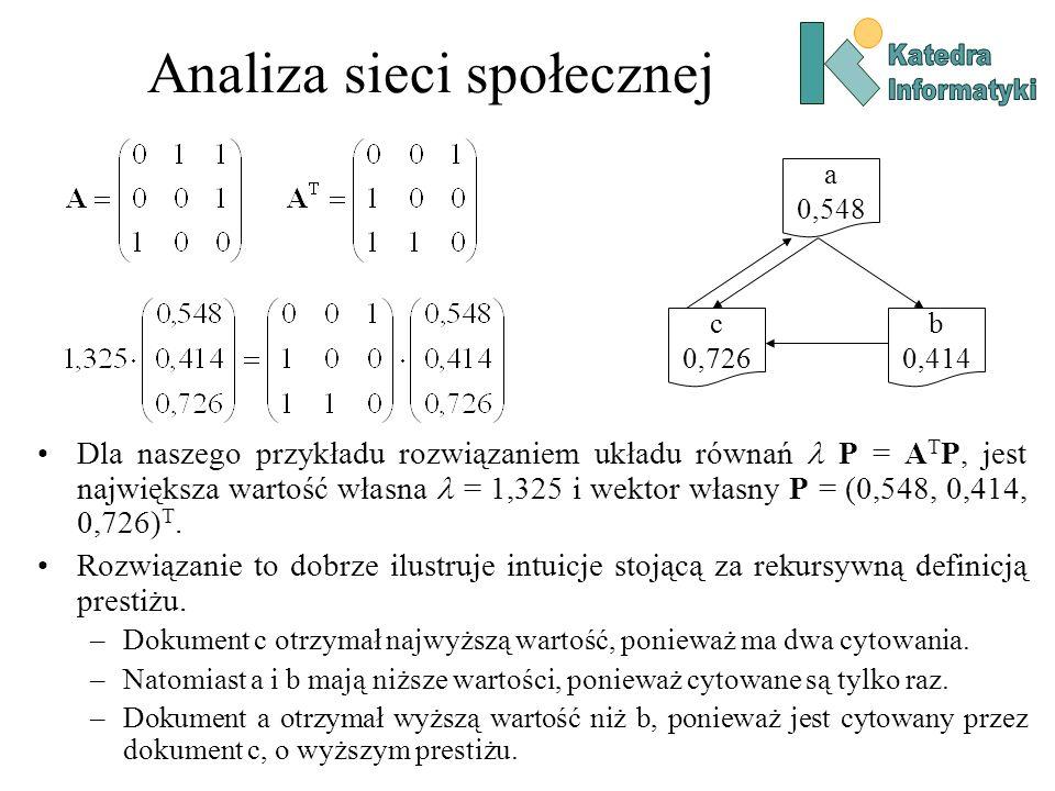 Analiza sieci społecznej