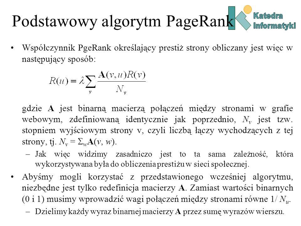 Podstawowy algorytm PageRank