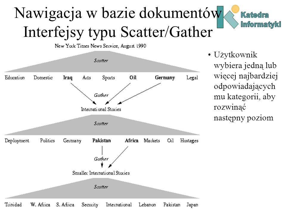 Nawigacja w bazie dokumentów Interfejsy typu Scatter/Gather