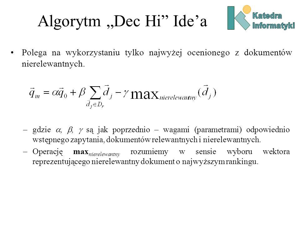 """Algorytm """"Dec Hi Ide'a"""