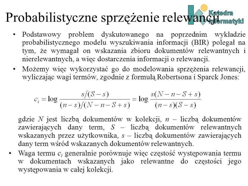 Probabilistyczne sprzężenie relewancji