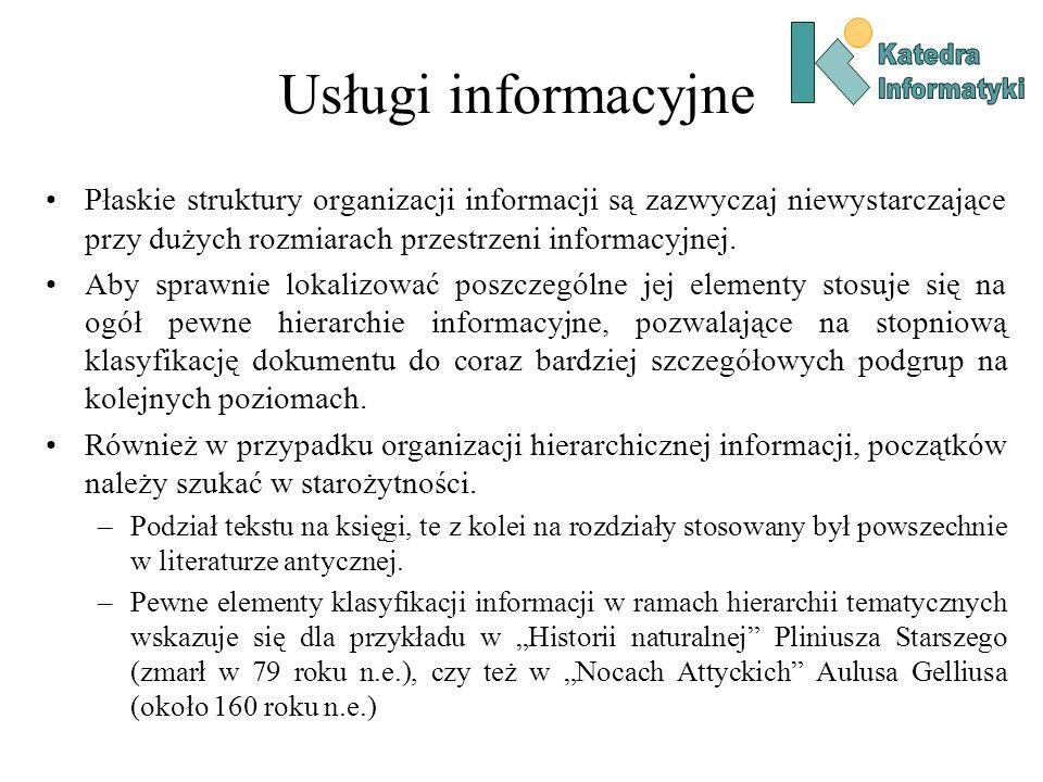 Katedra Informatyki. Usługi informacyjne.