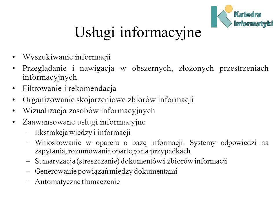 Usługi informacyjne Wyszukiwanie informacji